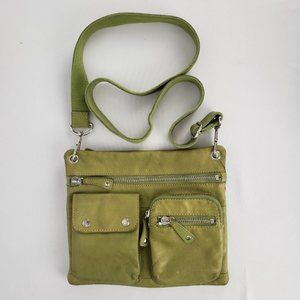 Fossil Green Leather Crossbody Purse